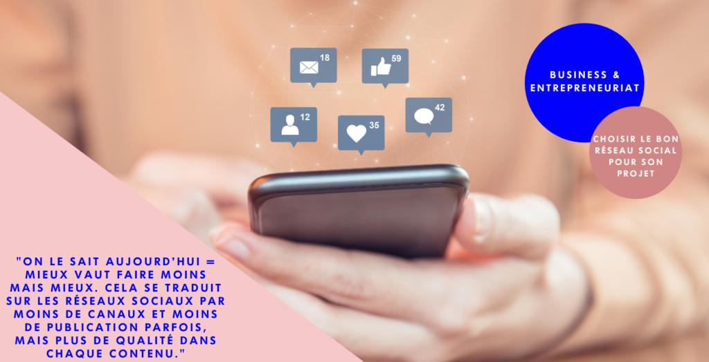 Article de blog Girlboost : Choisir le bon réseau social pour son projet