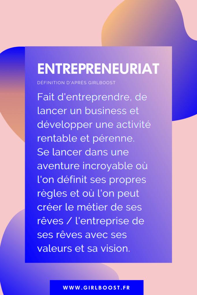 Définition de l'entrepreneuriat
