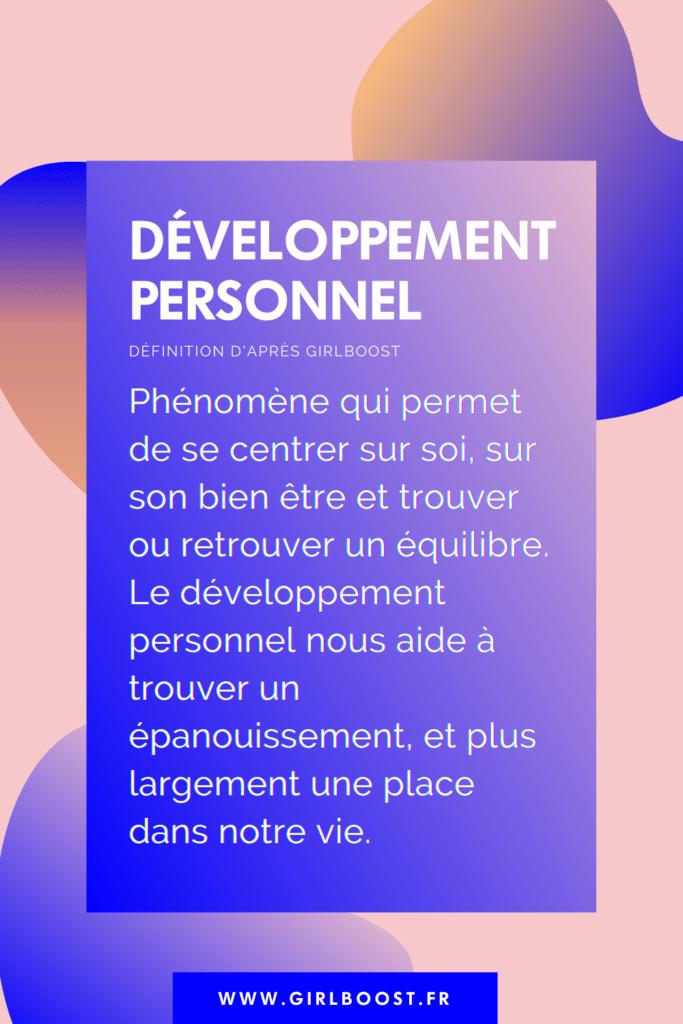 Définition du développement personnel
