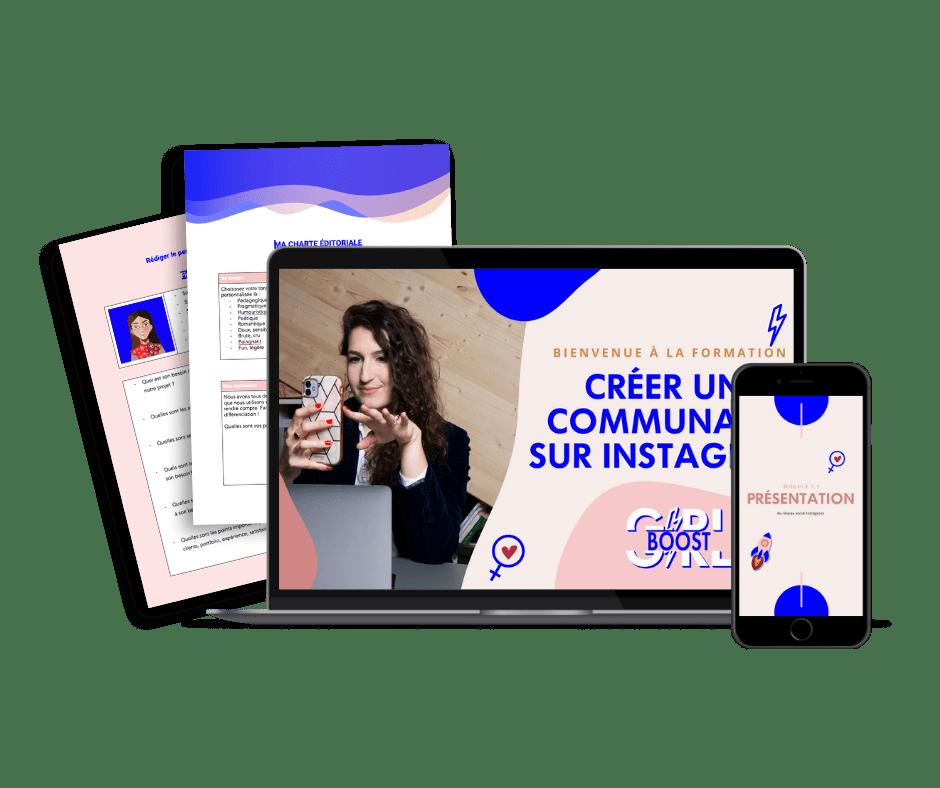 Formation pour entrepreneuse GIRLBOOST - Comment créer une communauté engagée sur instagram