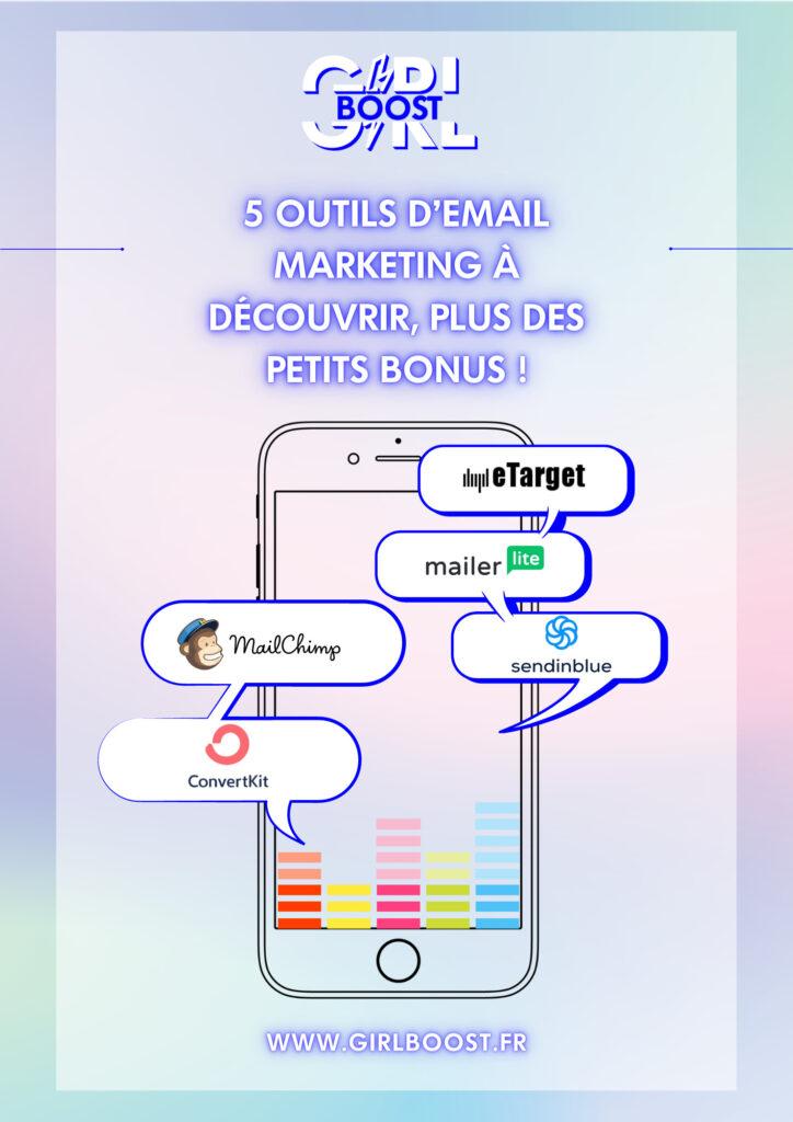5 outils d'émail marketing à découvrir