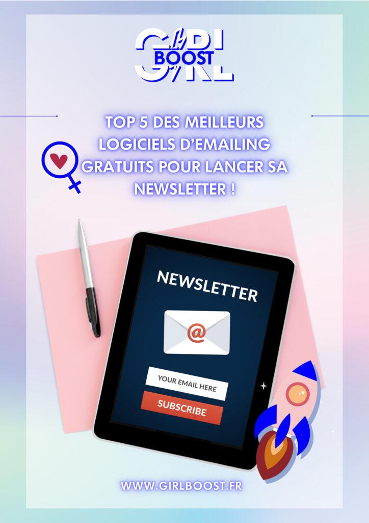 Top 5 des meilleurs logiciels d'emailing gratuits pour lancer sa newsletter